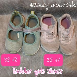 Girls shoes 11 & 12 (2) pair